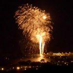 vue d'un feu d'artifice depuis la villa